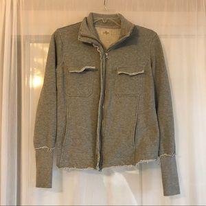 Sundays Zip Up Heather Gray Sweatshirt Jacket